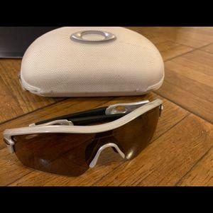Oakley radar path white chrome goggles sunglasses